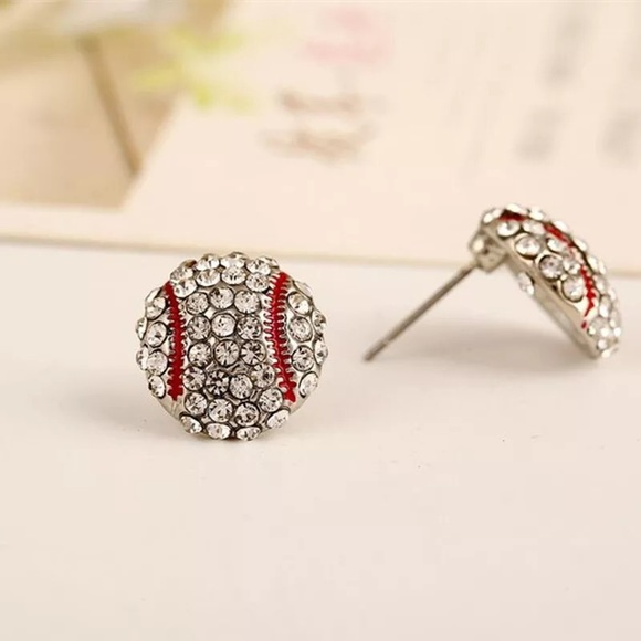 fancy fashions Jewelry - Baseball ⚾️ rhinestone stud earrings